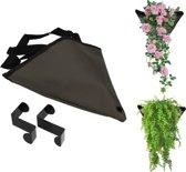 Verticaal Hangende Grijze Plantenbak voor Binnen en Buiten – 1 Zak – 30 x 25 cm – Donkergrijs