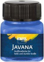 Javana blauwe textielverf 20ml – Voor licht en donker gekleurd textiel