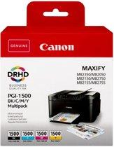 Canon PGI-1500 Original Zwart, Cyaan, Magenta, Geel Multipack 4 stuk(s)