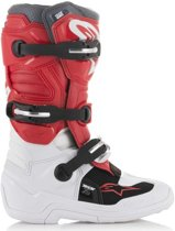 Alpinestars Kinder Crosslaarzen Tech 7S White/Red/Gray-42 (EU)