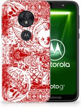 Motorola Moto G7 Play TPU Hoesje Design Angel Skull Red