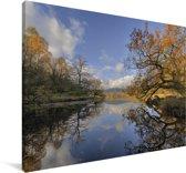 Lake District in het Verenigd Koninkrijk Canvas 180x120 cm - Foto print op Canvas schilderij (Wanddecoratie woonkamer / slaapkamer) XXL / Groot formaat!