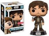Funko Pop! Star Wars: Rogue One Captain Cassian Brown Jacket Le - Verzamelfiguur