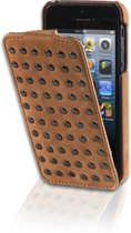 Decoded Flip Case - Premium Leren flip Cover voor iPhone SE / 5s / 5 - Bruin