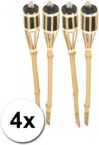 Bamboe tuinfakkels set 4 stuks 61 cm