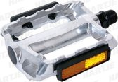 Contec City/Comfort CP-023 Aluminium Fiets pedalen  Grijs - Met Geïntegreerde Reflector