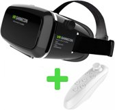 VR SHINECON VR Bril - Black + Bluetooth Remote Control - White