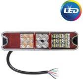 Achterlicht LED links/rechts 216x49,4x28 mm - 4 functies - losse draad aansluiting