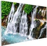 Brede waterval Glas 90x60 cm - Foto print op Glas (Plexiglas wanddecoratie)