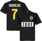 Juventus Ronaldo 7 Team T-Shirt - Zwart  - S