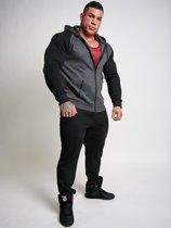Zip Hoodie - Bigger is Better - Graphite/Black - S