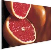 Warme kleuren van de grapefruit Plexiglas 160x120 cm - Foto print op Glas (Plexiglas wanddecoratie) XXL / Groot formaat!