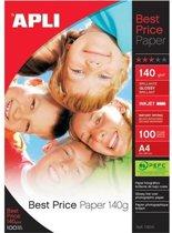 APLI pakken fotopapier FOTOPAP.A4 GLOSSY 140GR 100V