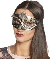 Zilverkleurig Steampunk masker voor vrouwen - Verkleedmasker