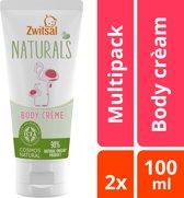 Zwitsal Naturals Body Crème - 2 x 100 ml - Voordeelverpakking