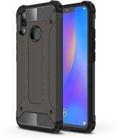 Let op type!! Diamond Armor PC + TPU warmte dissipatie beschermende case voor Huawei Nova 3i (brons)