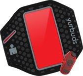 Yurbuds Universal Ergosport LED Armband - Zwart / Rood