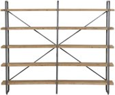 Light & Living Stellingkast  CALLAO 5 laags 244x47x200 cm  -  hout