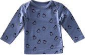 Little Label Unisex T-shirt - blauw - Maat 74