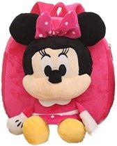 Kinderrugzak van zacht pluche - lekker zacht en praktisch cadeau | Schattige schooltas | ook leuk als luieretui |Minnie