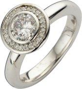 Silventi 943283619 60 Zilveren Ring - met Zirkonia - Rond - Zilverkleurig