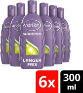 Andrélon Langer Fris - 6 x 300 ml - Shampoo - Voordeelverpakking
