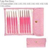 Tulip ETIMO Candy Softgrip Haaknaaldenset Wool Pink
