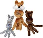Kong Wubba Friend - Hondenspeelgoed - Grijs - 10,2 x 7,9 x 2,6 cm