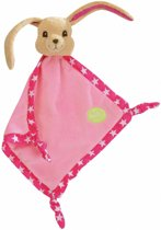 Knuffeldoekje konijn Pioupiou roze sterren