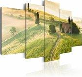 Schilderij Toscane, groen, 5luik, 2 maten