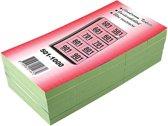 19x Garderobeblokken nummers van 501 t.e.m. 1.000, groen