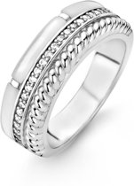 TI SENTO Milano Ring 12082MW - Maat 60 (19 mm) - Gerhodineerd Sterling Zilver