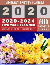 2020-2024 Five Year Planner: five year planner 2020-2024 - 60 Months Calendar, 5 Year Appointment Calendar, Business Planners, Agenda Schedule Orga