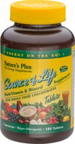Source of Life, Multivitamine, 180 tabletten, Nature's Plus