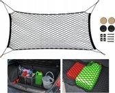 Universeel Auto Kofferbak Bescherming Net - Bagagenet Organizer - Kofferbaknet Beschermer - XL Zwart
