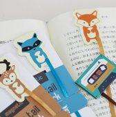 Magnetische Boekenlegger - Boek Houder - Bladwijzer - Boek Marker Paperclip - Boekenclip - Memo clip - 4 stuks Dieren met lint