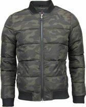 Daniele Volpe Camouflage bomberjack heren - Camo jacket heren - PI-701-DVG - Groen - Maten: S