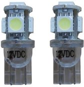 Xenon Look 5 SMD LED W5W T10 - blauw