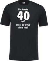 Mijncadeautje - Leeftijd T-shirt - Het duurde 40 jaar - Unisex - Zwart (maat L)