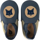Bobux babyslofjes navy beige fox loafer - maat 24