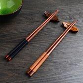 Hiden | Japanse stokjes - Kastanje hout | Bruin