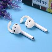 Oordopjes Anti slip voor Airpods & Earpods 2 Paar - Siliconen Earhooks - Earhoox - Geschikt voor Apple airpods  - Oorhaken - 2 Paar wit