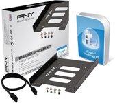 PNY Desktop Upgrade Kit - 2.5 naar 3.5 inch bay + 25cm Sata III kabel + schroefjes + schroevendraaier