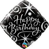 Folieballon Happy Birthday vierkant
