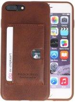 Bruin Hardcase cover Hoesje voor Apple iPhone 7 Plus / 8 Plus