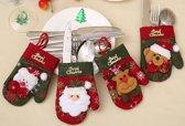 Kerst Bestekhouders - Set van 4 - 9x14cm