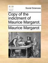 Copy of the Indictment of Maurice Margarot