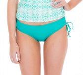 Cabana Life UV beschermend Bikinibroekje Dames - Turquoise - Maat 44 (XL)