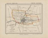 Historische kaart, plattegrond van gemeente Leeuwarden in Friesland uit 1867 door Kuyper van Kaartcadeau.com
