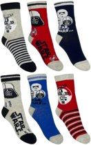 6 paar sokken van Star Wars maat 27-30